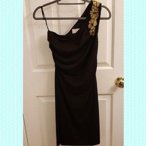 Badgley Mischka One Shoulder Dress